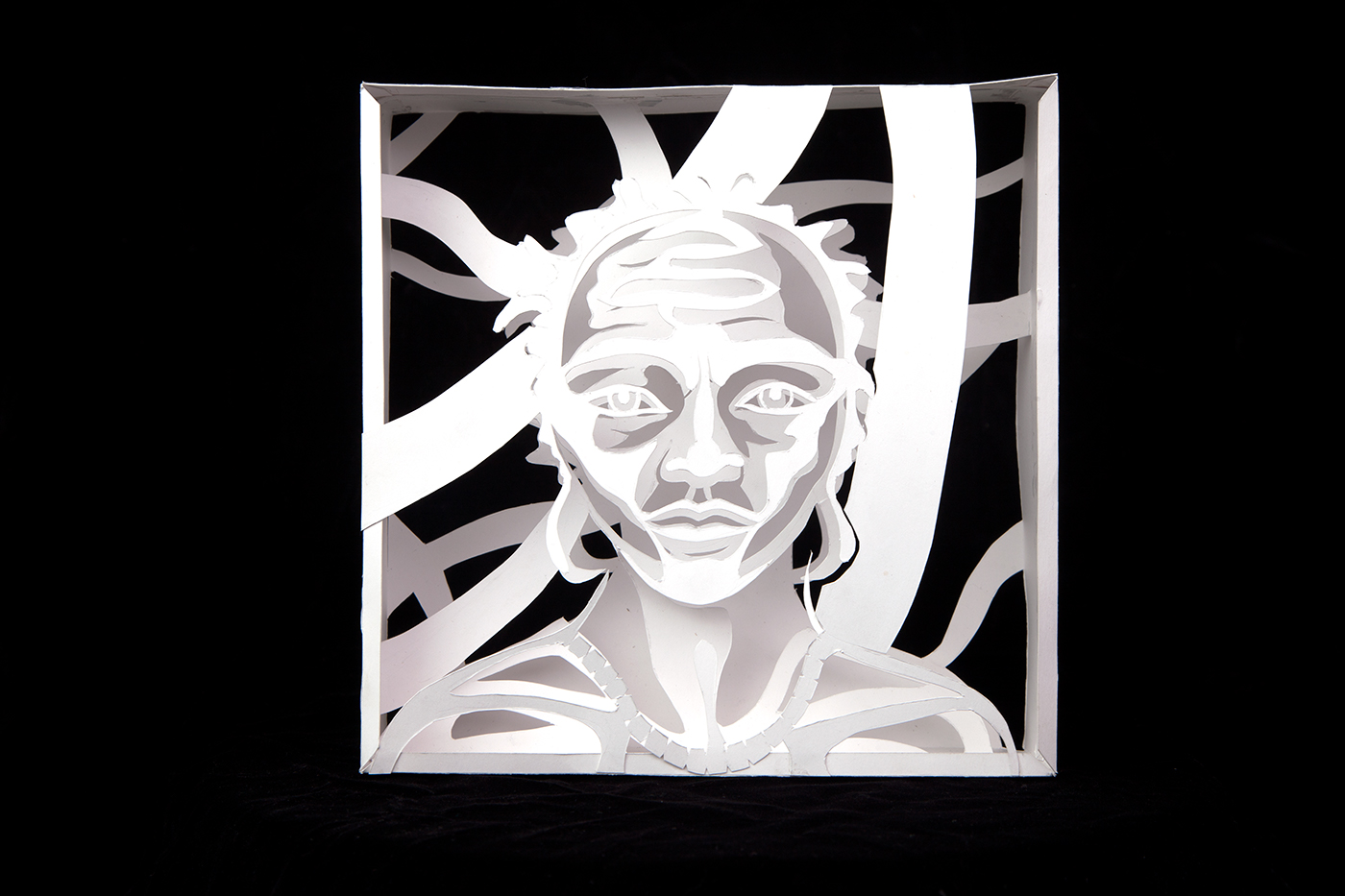 """Paper Box"" Cut Paper. 2017. Gillian Maurer."