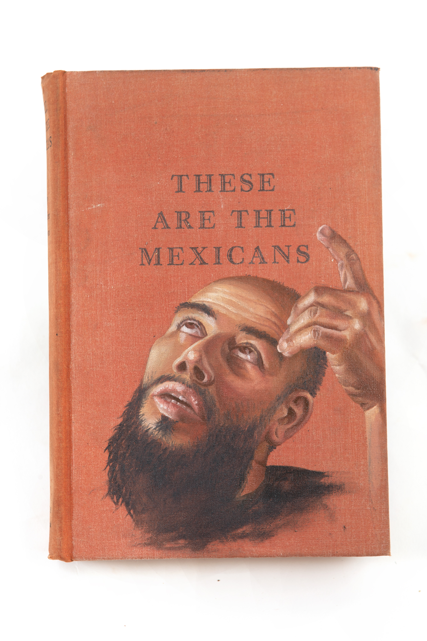 """""""Fairytales of Mexico (set)"""" Oil Paint on Found Book. 2019. Gillian Maurer."""