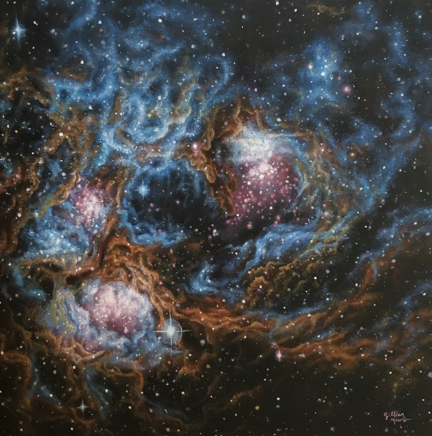 """Star Study 1"" Oil Paint on Wood Panel. 2017. Gillian Maurer."